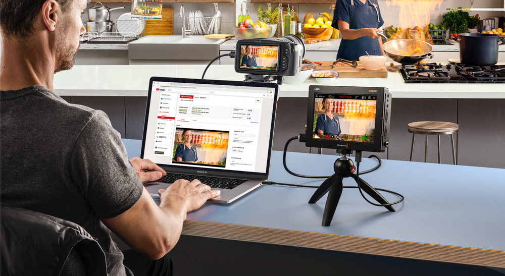 Blackmagic Video Assist 3G/12G get 3.3 ive streaming function via firmware update