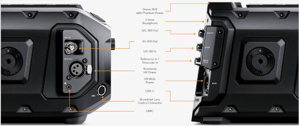 Blackmagic Design Ursa Mini Pro 12K Interfaces