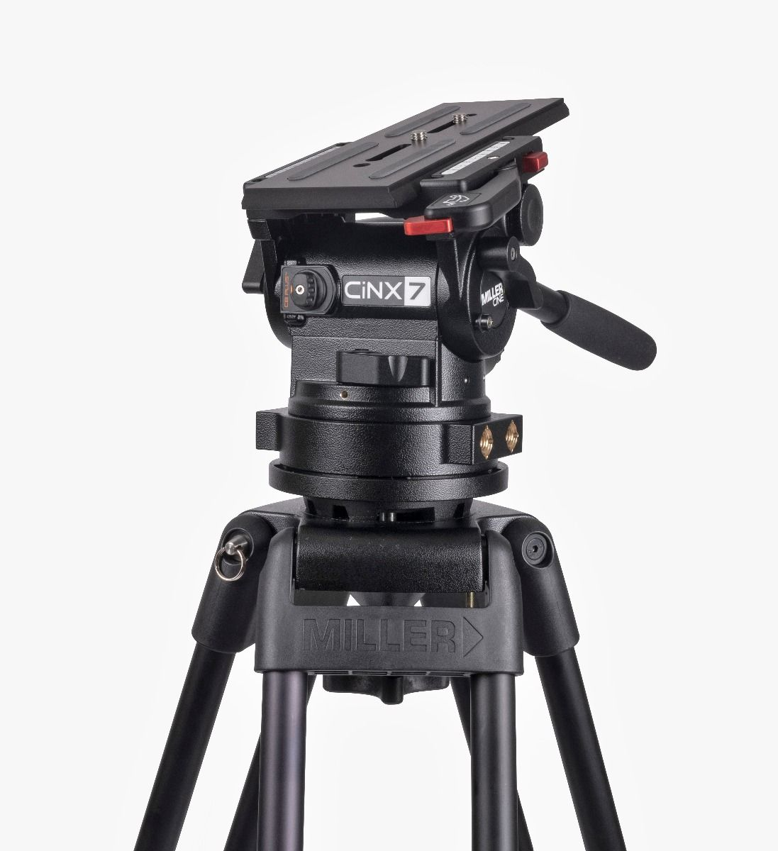 Miller: New CiNX tripod head series for cine applications with interchangeable mounts for 100, 150mm