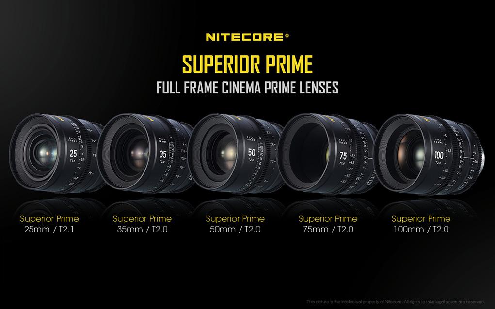 Nitecore introduces Large Format Cine lens portfolio - Superior Prime: Rebranded NISI, Bokehlux, Kin