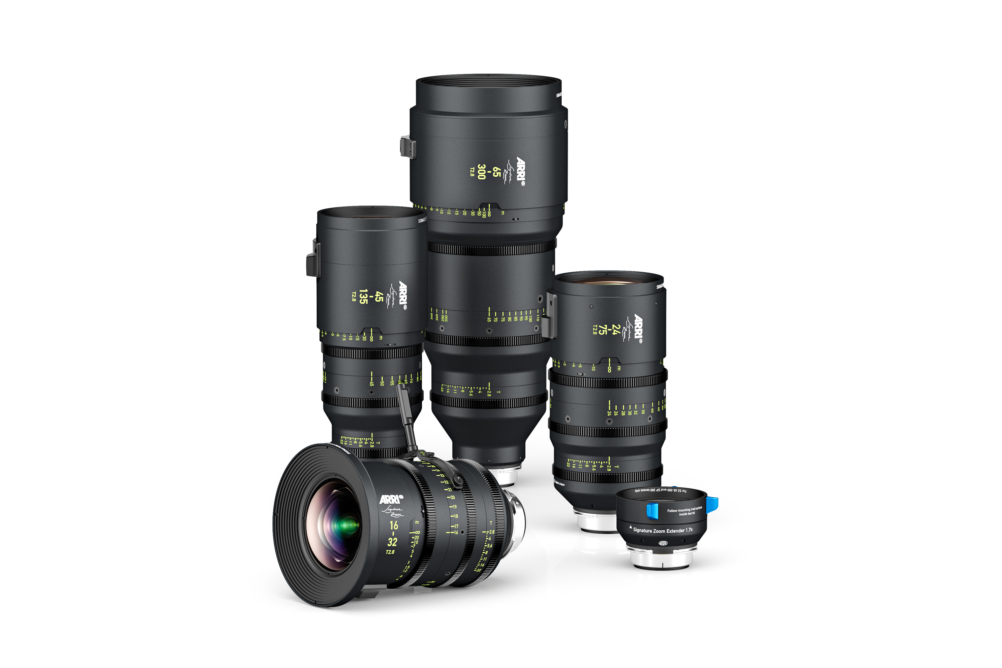ARRI adds four constant T2.8 zooms to Signature Large Format lens series