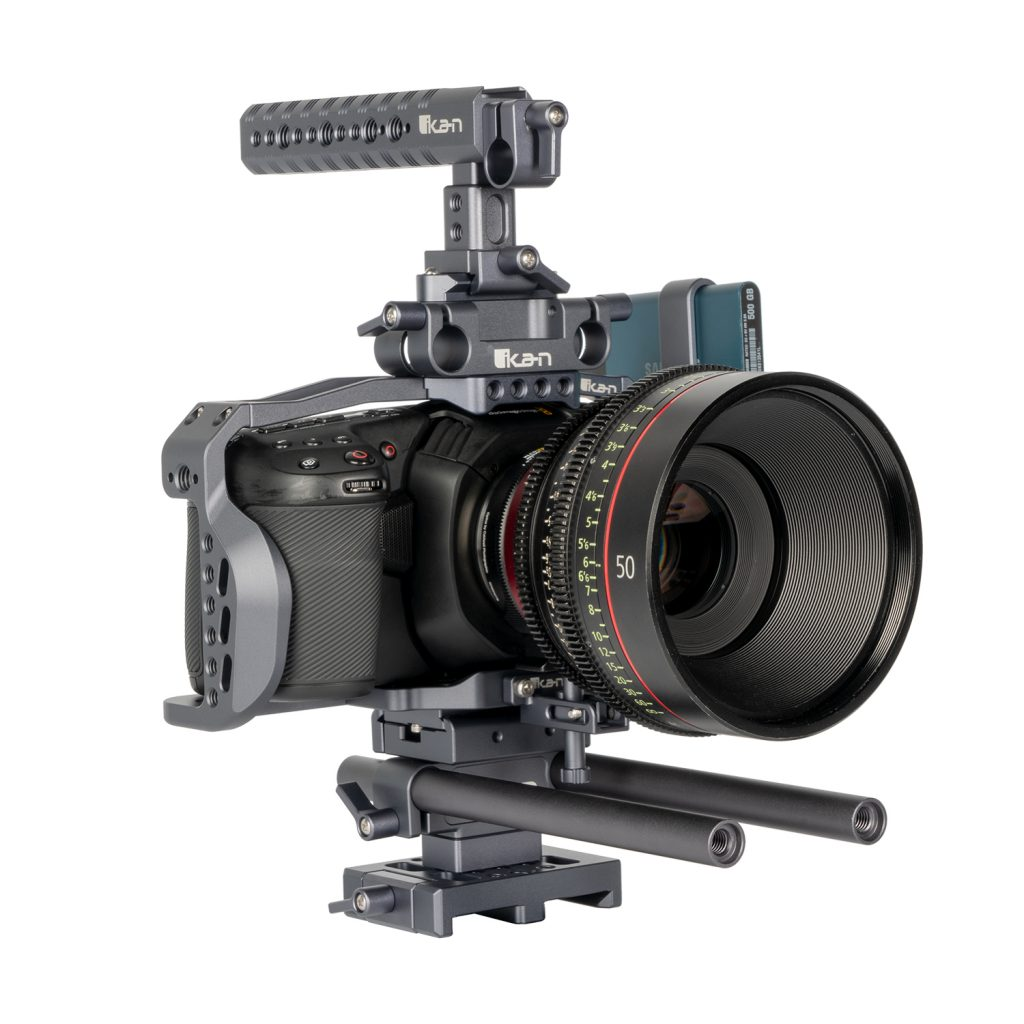 IKAN: Stratus Complete Cage for Blackmagic Pocket Cinema Camera 4K incl. Metabones and SSD support
