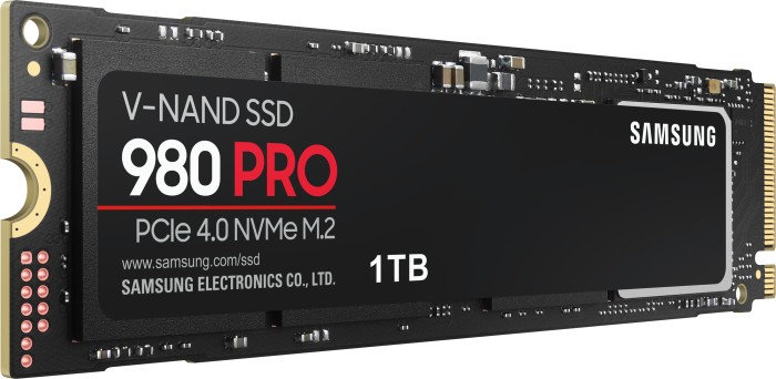 Samsung 980 PRO PCIe 4.0 NVMe SSD with up to 5,000 MB/s write speed