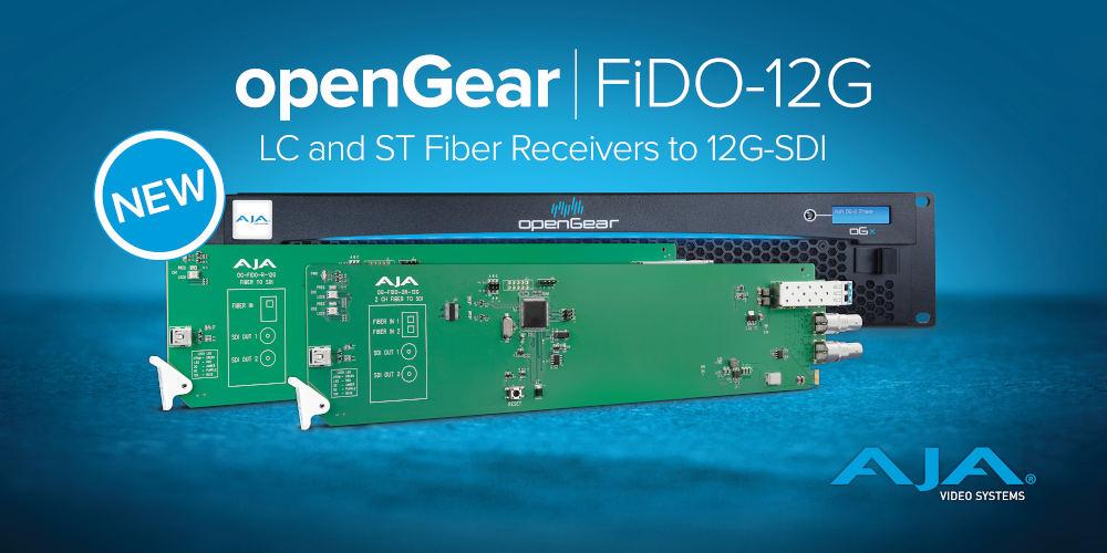 AJA announces new openGear fiber to 12G-SDI converter