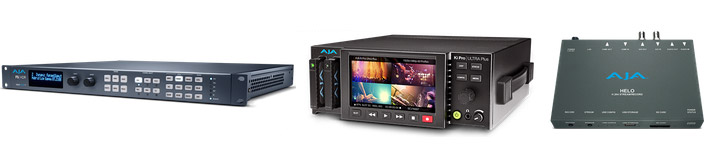 AJA  Firmware Updates for FS-HDR, HELO und Ki Pro Ultra Plus  // IBC 2018