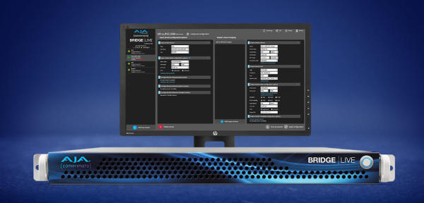 AJA Releases BRIDGE LIVE v1.12 with New NDI and HLS Compatibility