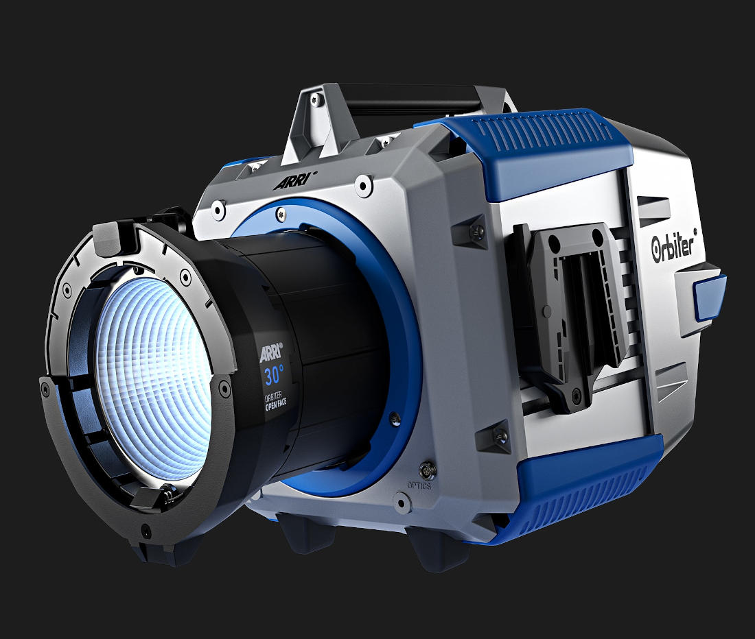 ARRI Orbiter: Ultra-bright LED spotlight with interchangeable optics is delivered