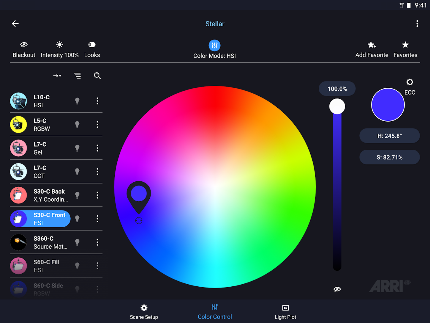 ARRI's Stellar App 1.7 for lighting control brings improvements and new functions