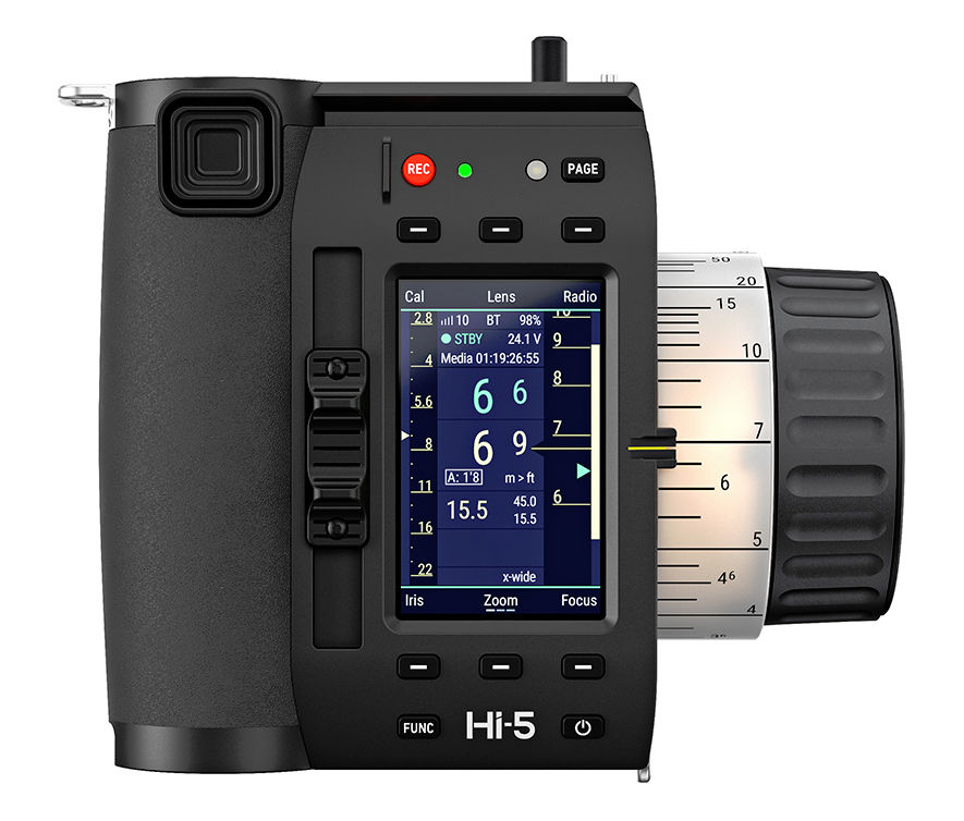 New ARRI Hi-5 hand unit for smart camera and lens control offers interchangeable wireless modules