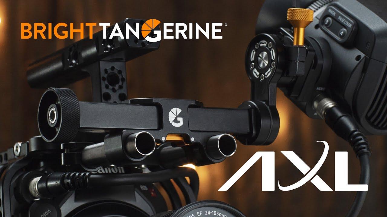 Clever Bright Tangerine AXL EVF Bracket for Canon, Sony, ZCam, ARRI, Zacuto ...