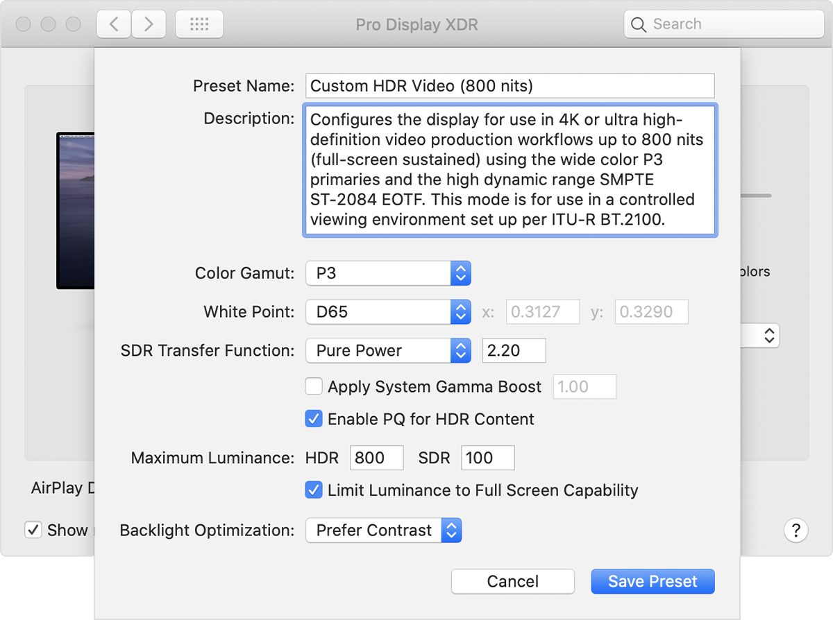 Apple Pro Display XDR gets custom reference modes