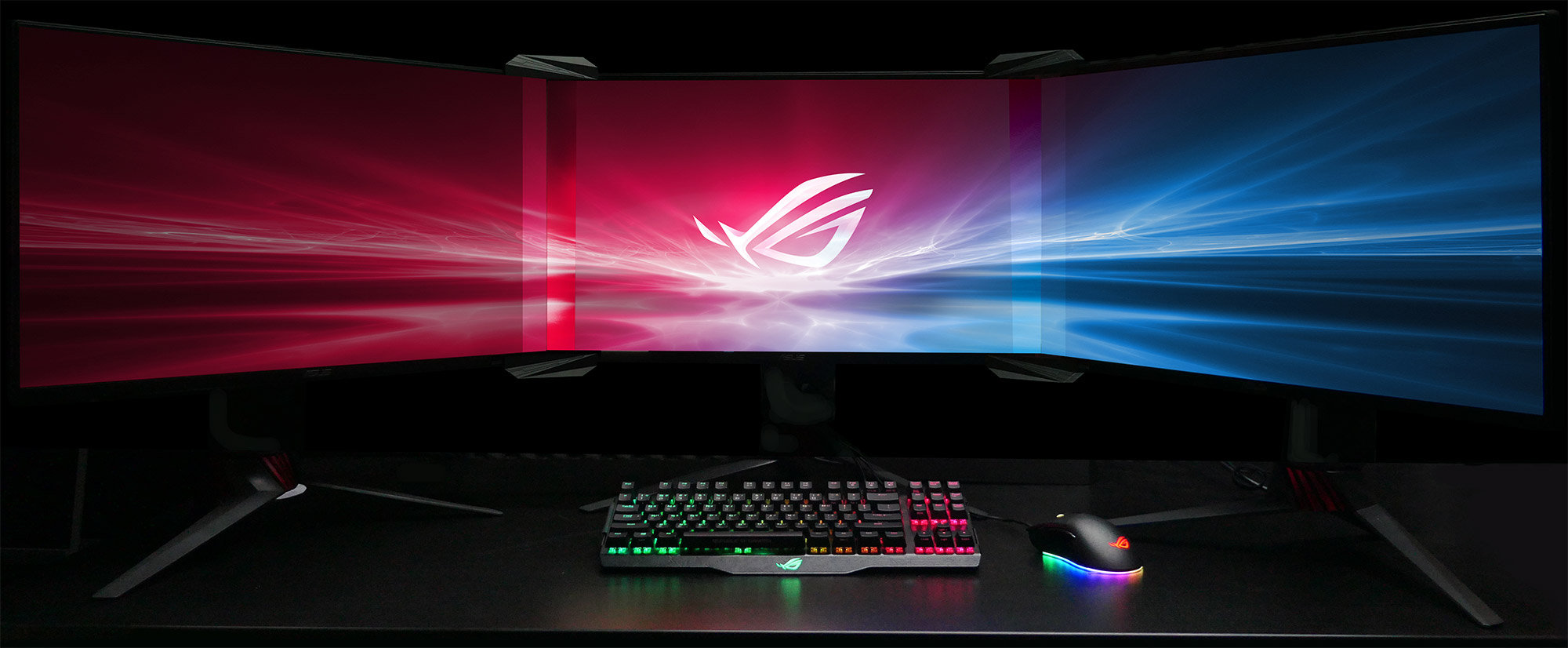 Asus makes the Multi-Monitor bezel disappear