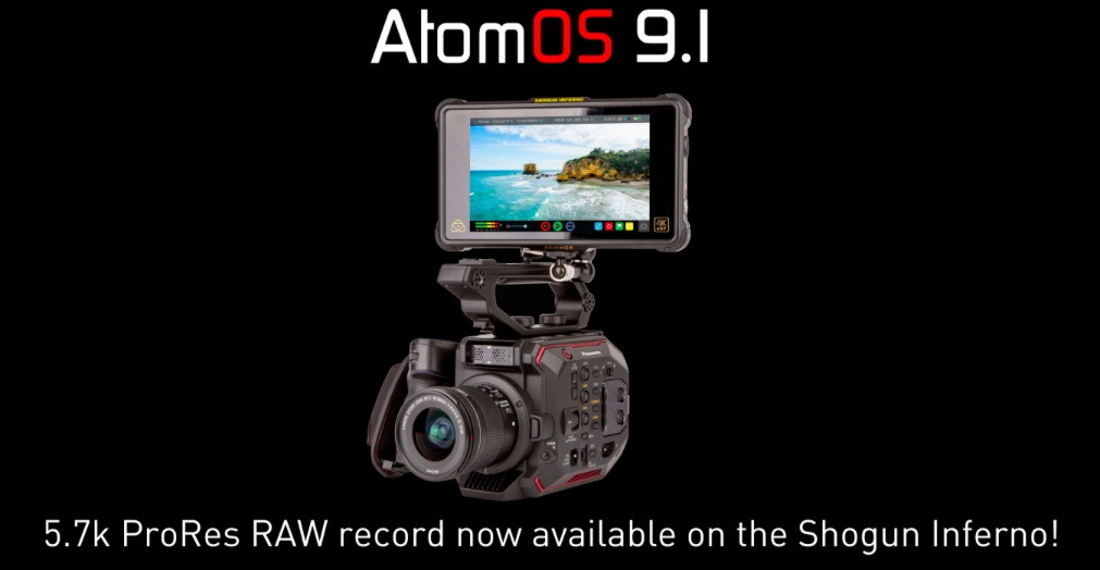 Atomos: Shogun Inferno Firmware 9.11 enables 5.7K ProRes RAW recording for Panasonic EVA1