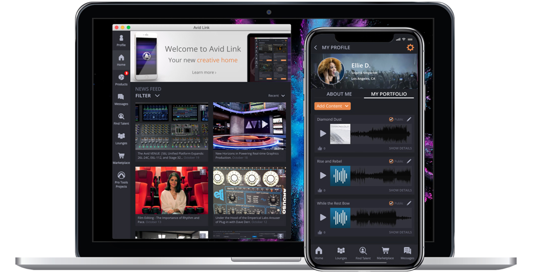 Avid Link: Free App Connects the Creative Community