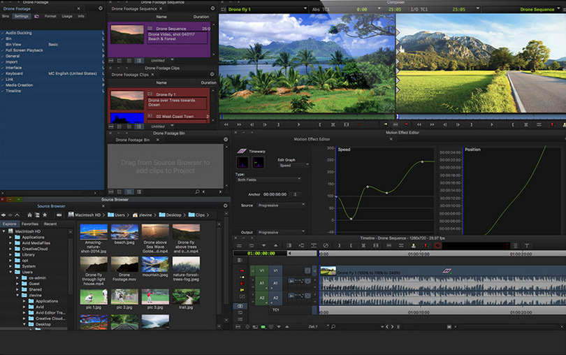 Free editing program Avid Media Composer First in the test