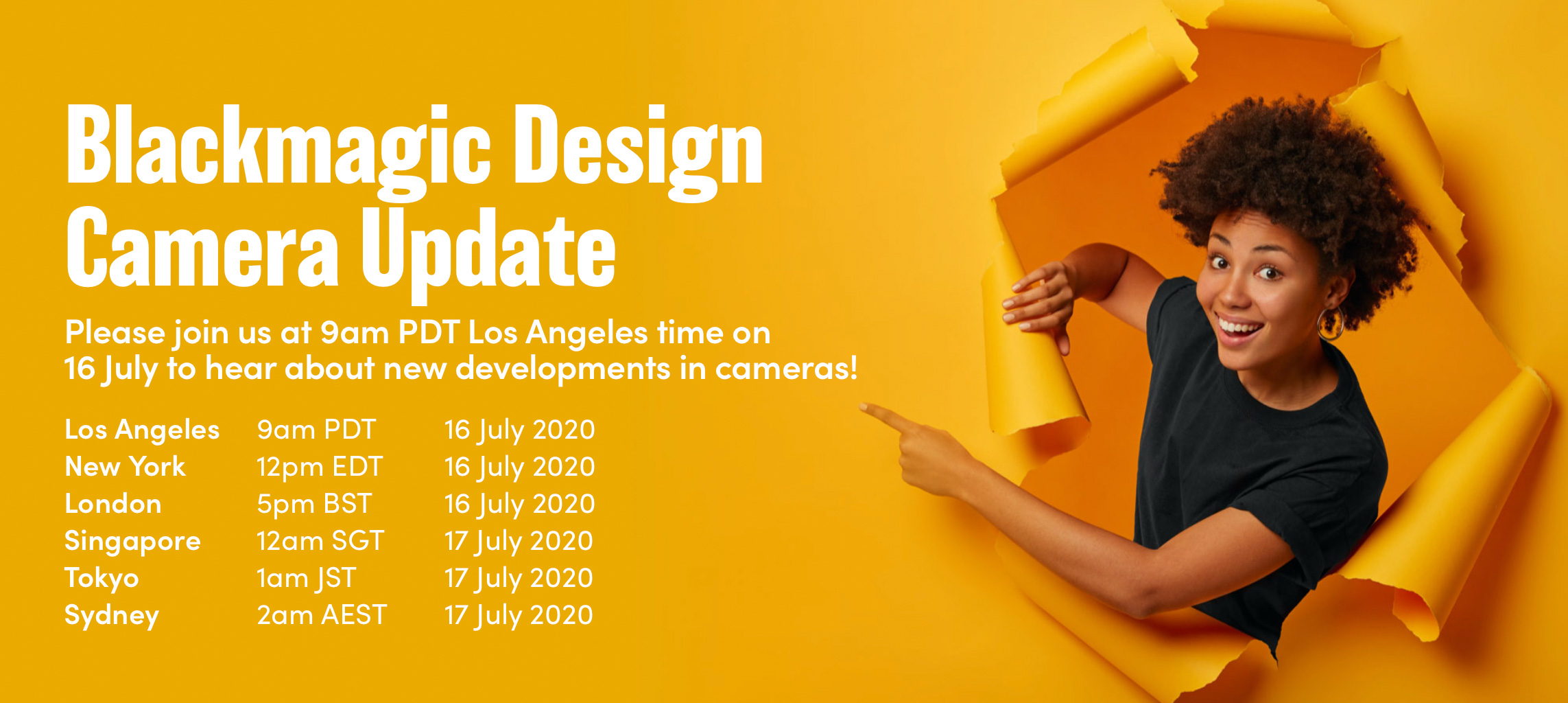 Blackmagic Design: Tomorrow Livestream on New Camera Updates and Resolve 16.2.4 released