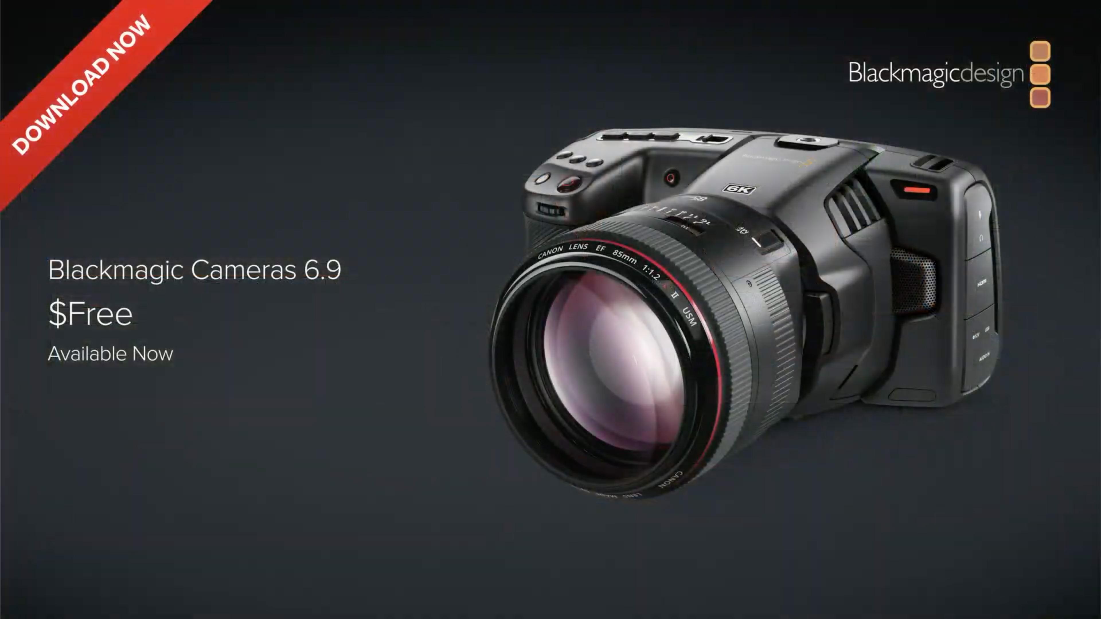Blackmagic Camera 6.9 update turns Pocket Cinema Camera 4K and 6K into studio cameras