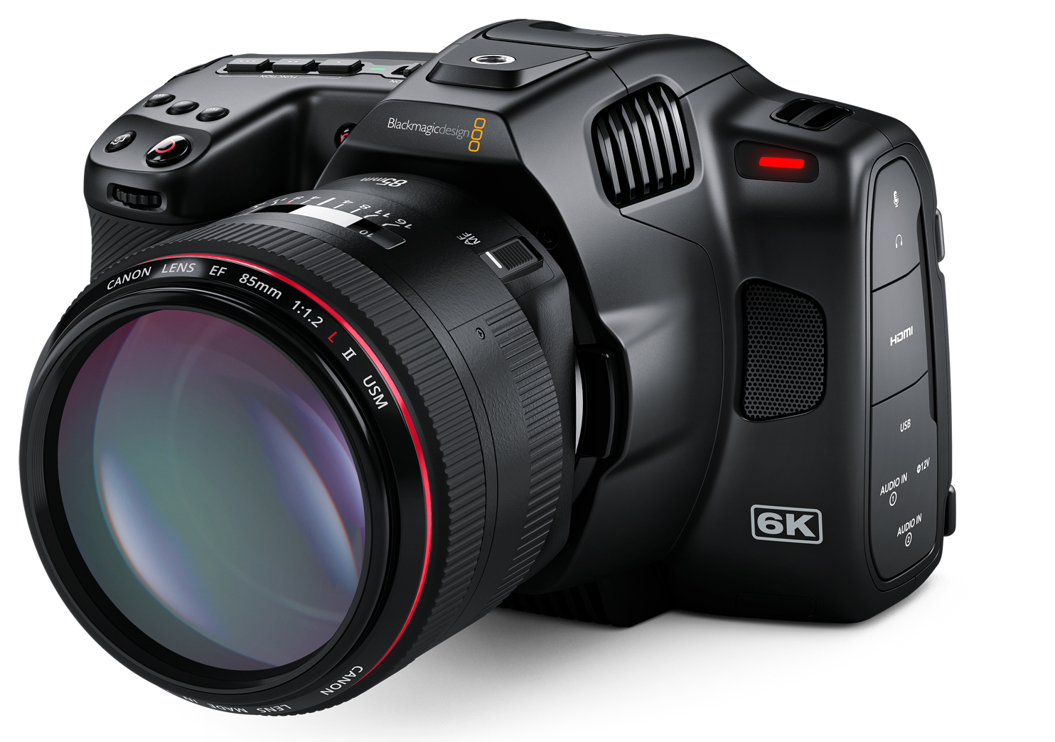 Blackmagic Pocket Cinema Camera 6K Pro - with integrated ND filter and viewfinder
