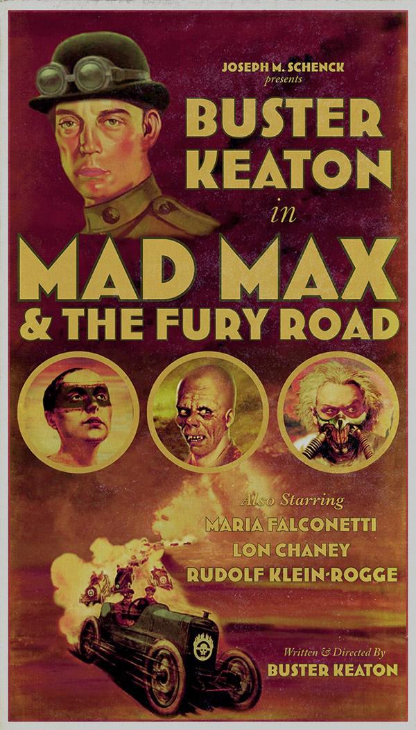 Alternative versions of big blockbusters: Buster Keaton as Max Max, Bruce Lee in Tron?