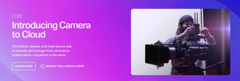Frame.io: Camera to Cloud