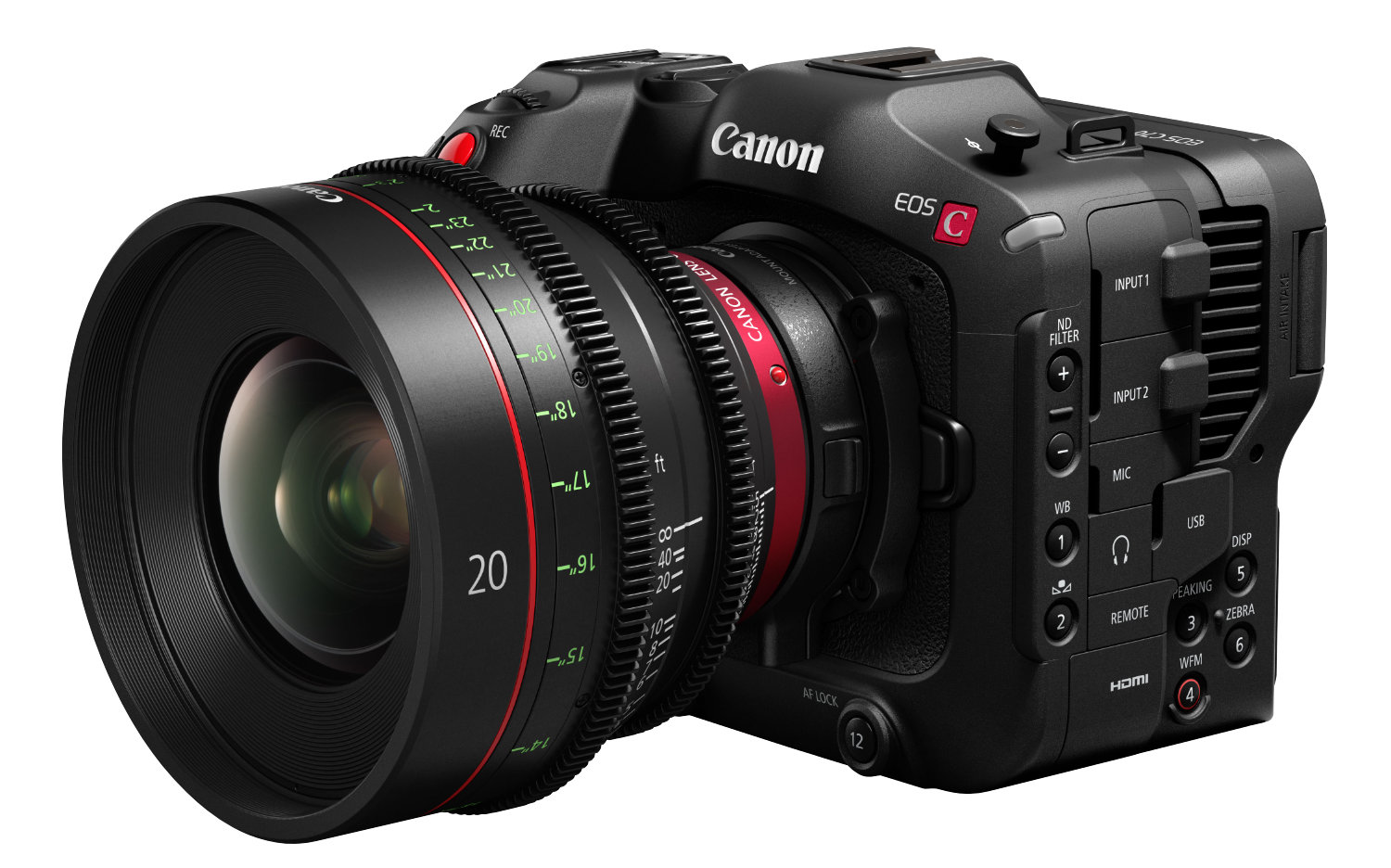 Canon Cinema EOS C70 - S35 RF mount with optional EF speed booster