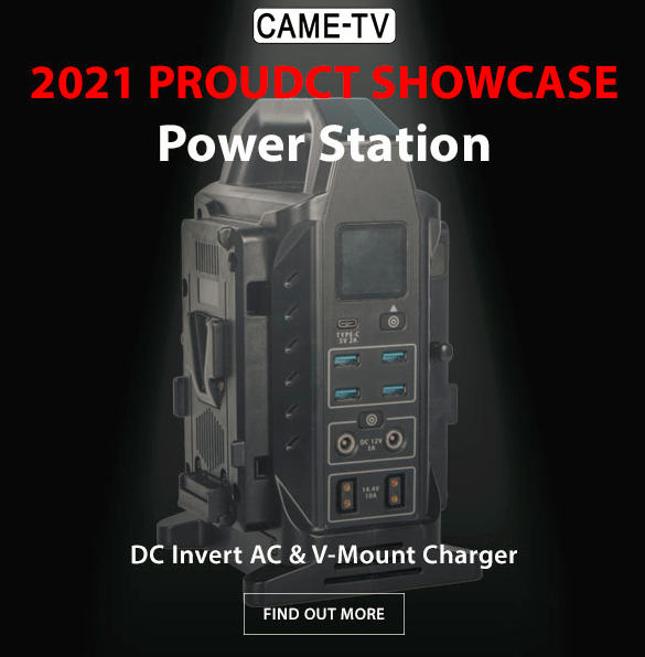 CAME-TV Power Station: dual V-mount battery charger and AC power converter in one