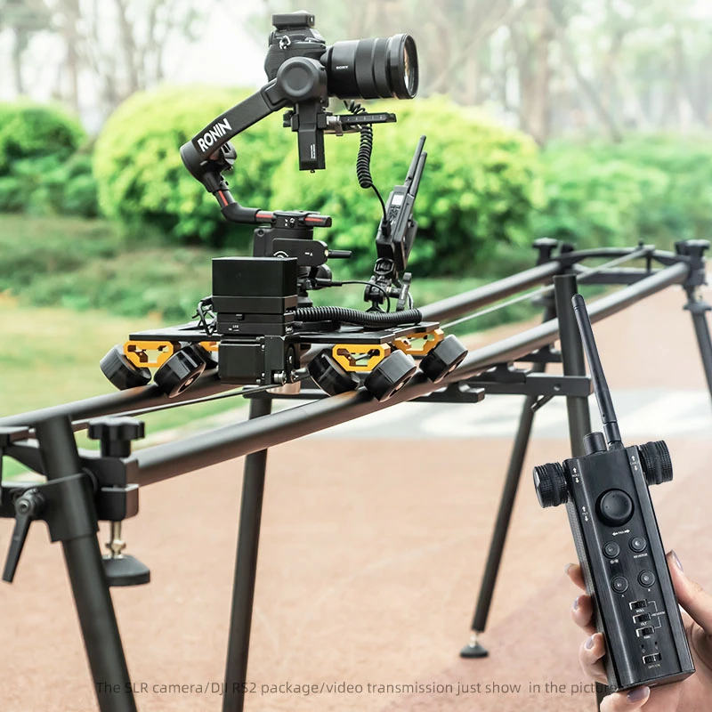 CAME-TV: Remote controlled slider for DJI RS2 gimbal with 3.47 meter track
