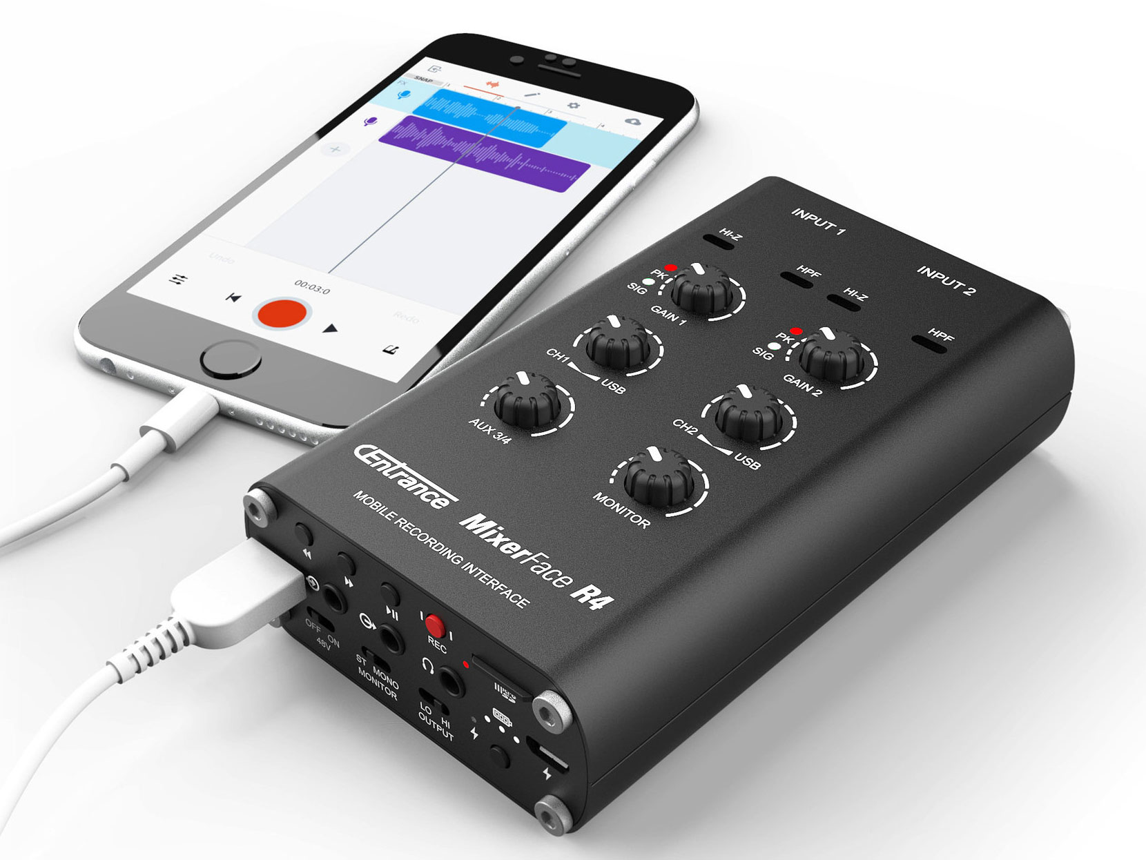 CEntrance Mixerface R4R: Mobile Recording Interface with Internal Recording