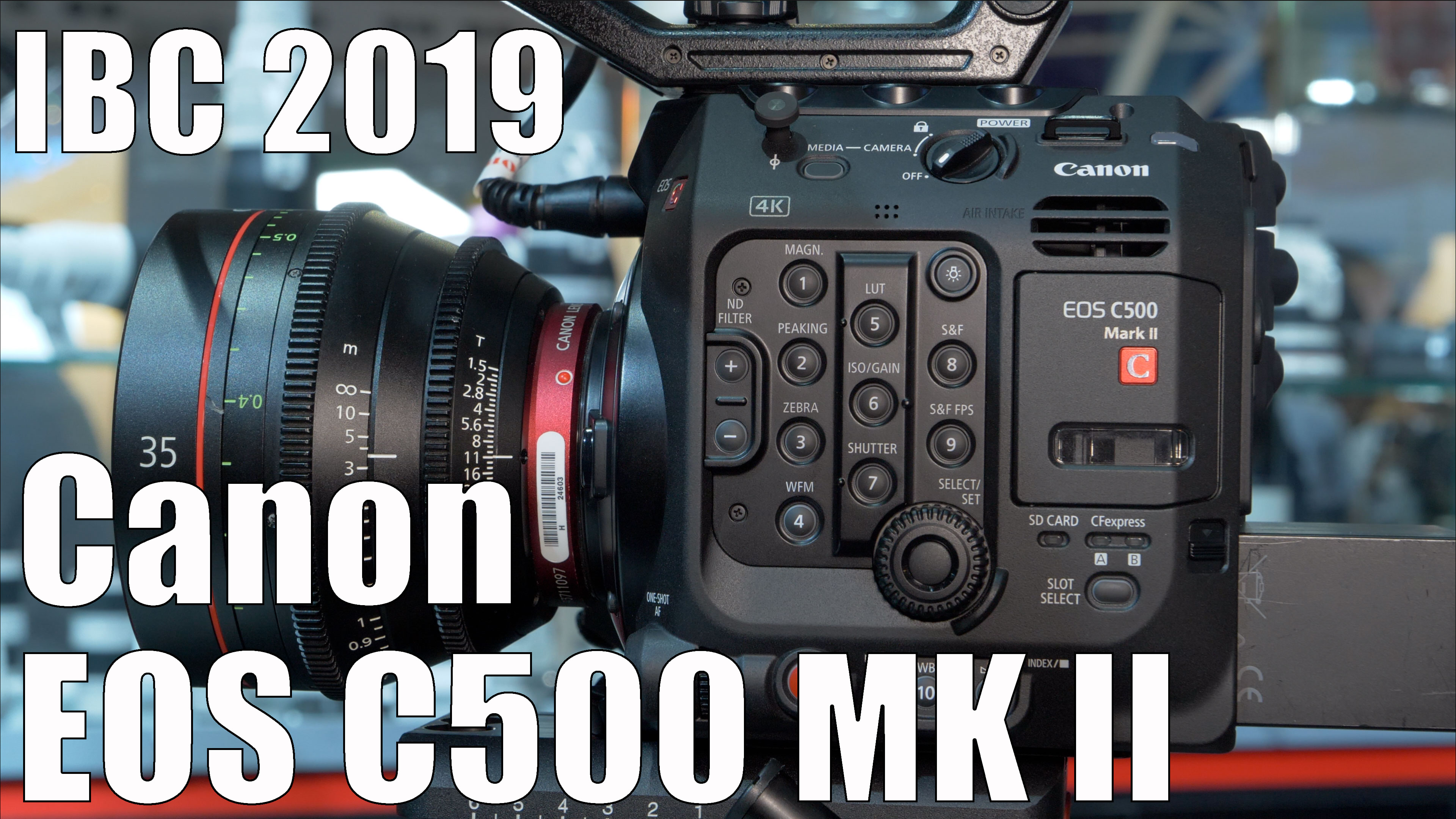 Full format Canon EOS C500 MKII with internal (!) 5.9K RAW recording and better Dual Pixel AF // IBC