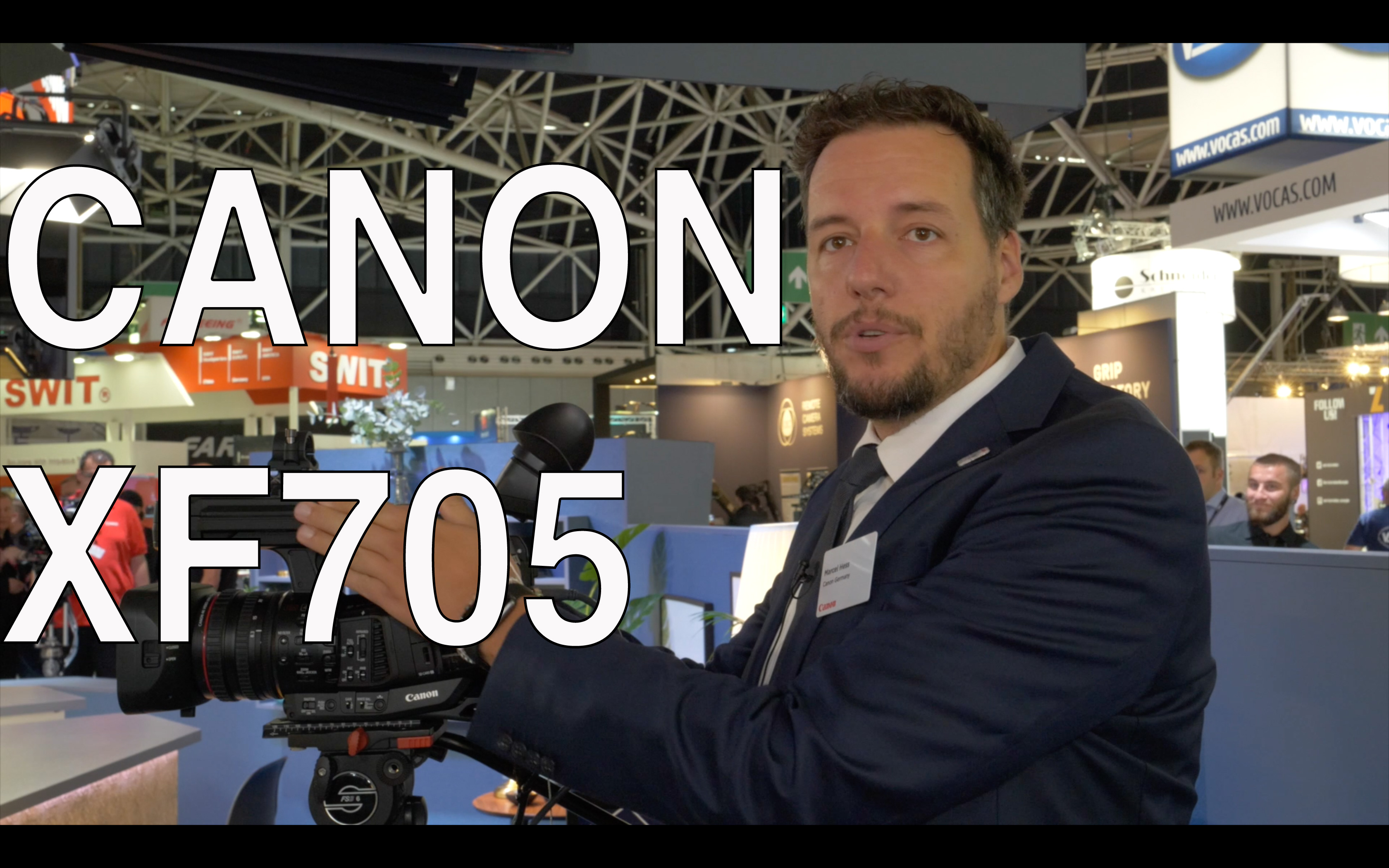 Videointerview: Canon XF705 - 10 Bit H.265, Linear Focus-by-Wire, Shoulder rest, Availability a.o. /
