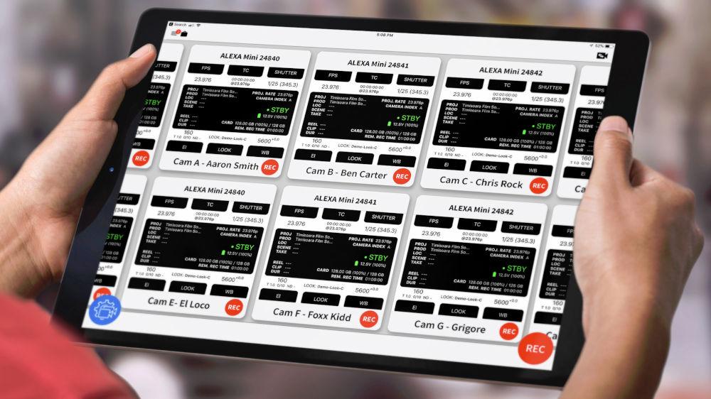 CineControl Multicam App controls several ARRI cameras via iPad