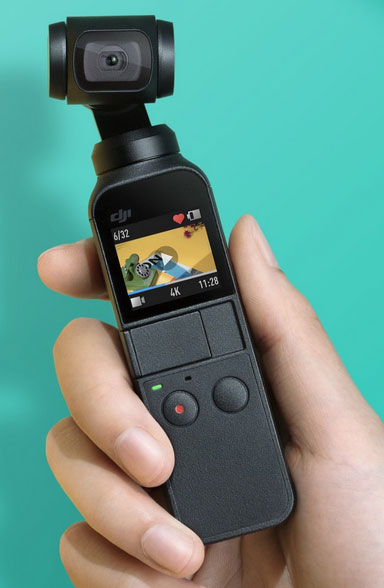 DJI Osmo Pocket: Mini one-handed gimbal with integrated camera
