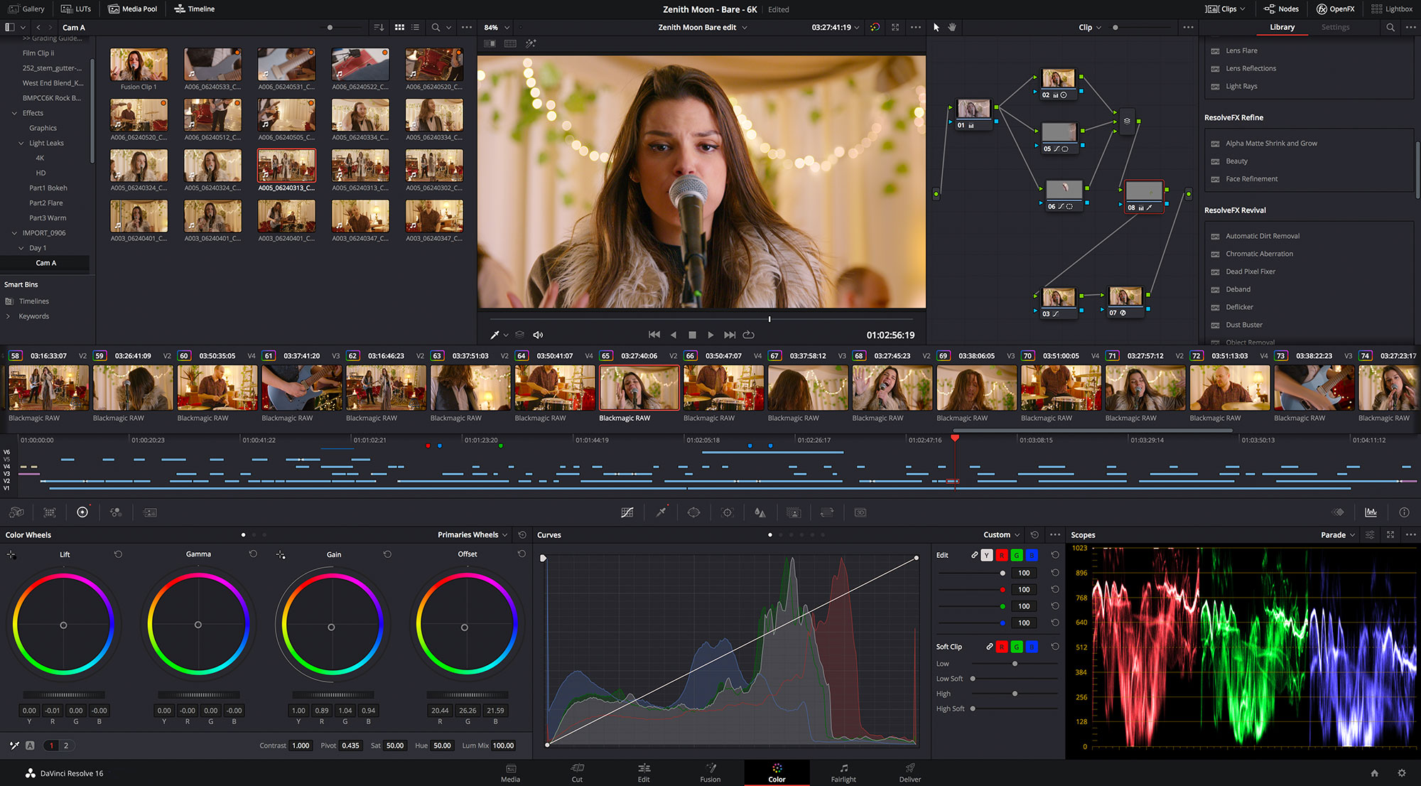 Blackmagic DaVinci Resolve Update 16.3 Beta 2: Now also support for BRAW 12K on Windows