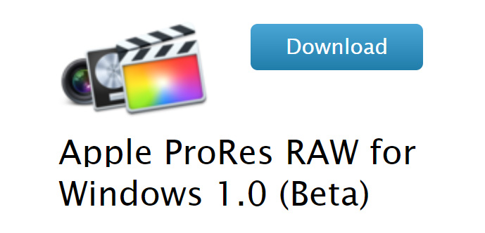 Apple ProRes RAW for Windows 1.0 (beta) is here - almost no comment
