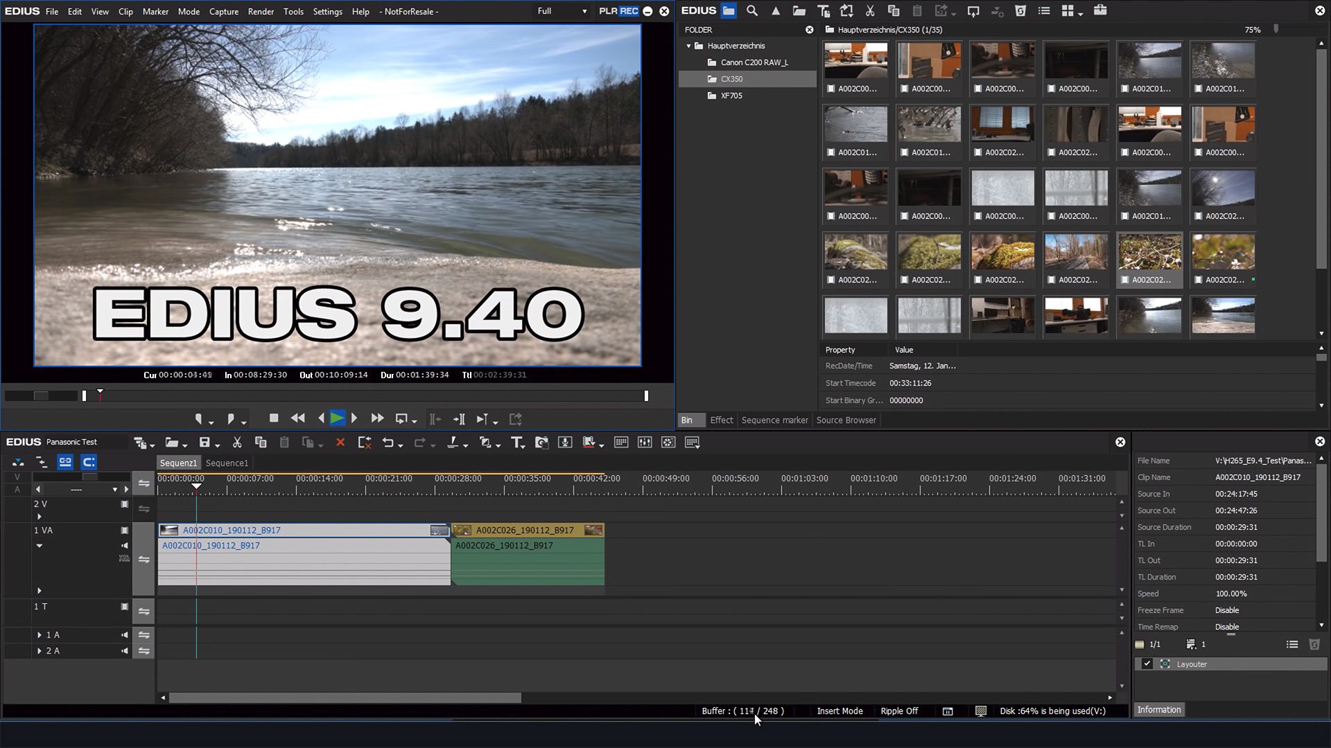 Grass Valley EDIUS 9.40 - including ProRes RAW and Audiosync for Multicam // NAB 2019