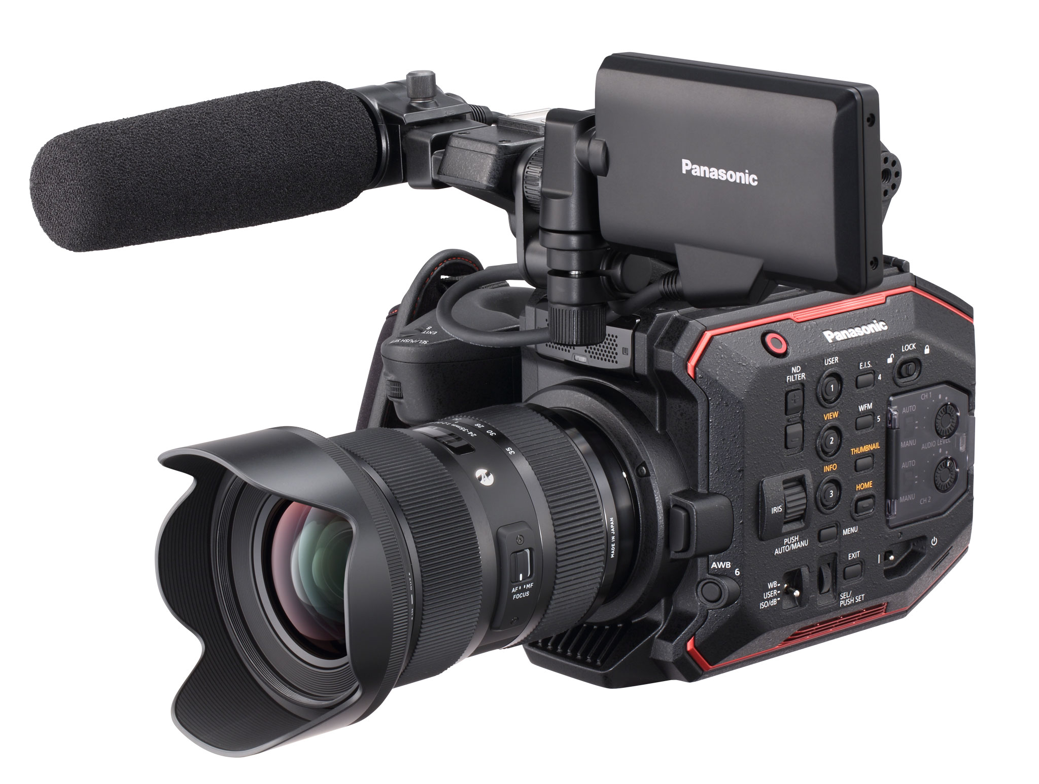 Panasonic EVA1 Firmware Update 2.5: New Noise Reduction, compatible lenses and more