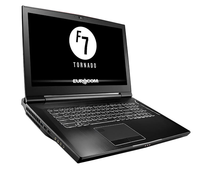 Eurocom Tornado F7W: Notebook with up to 28 TB SSD storage