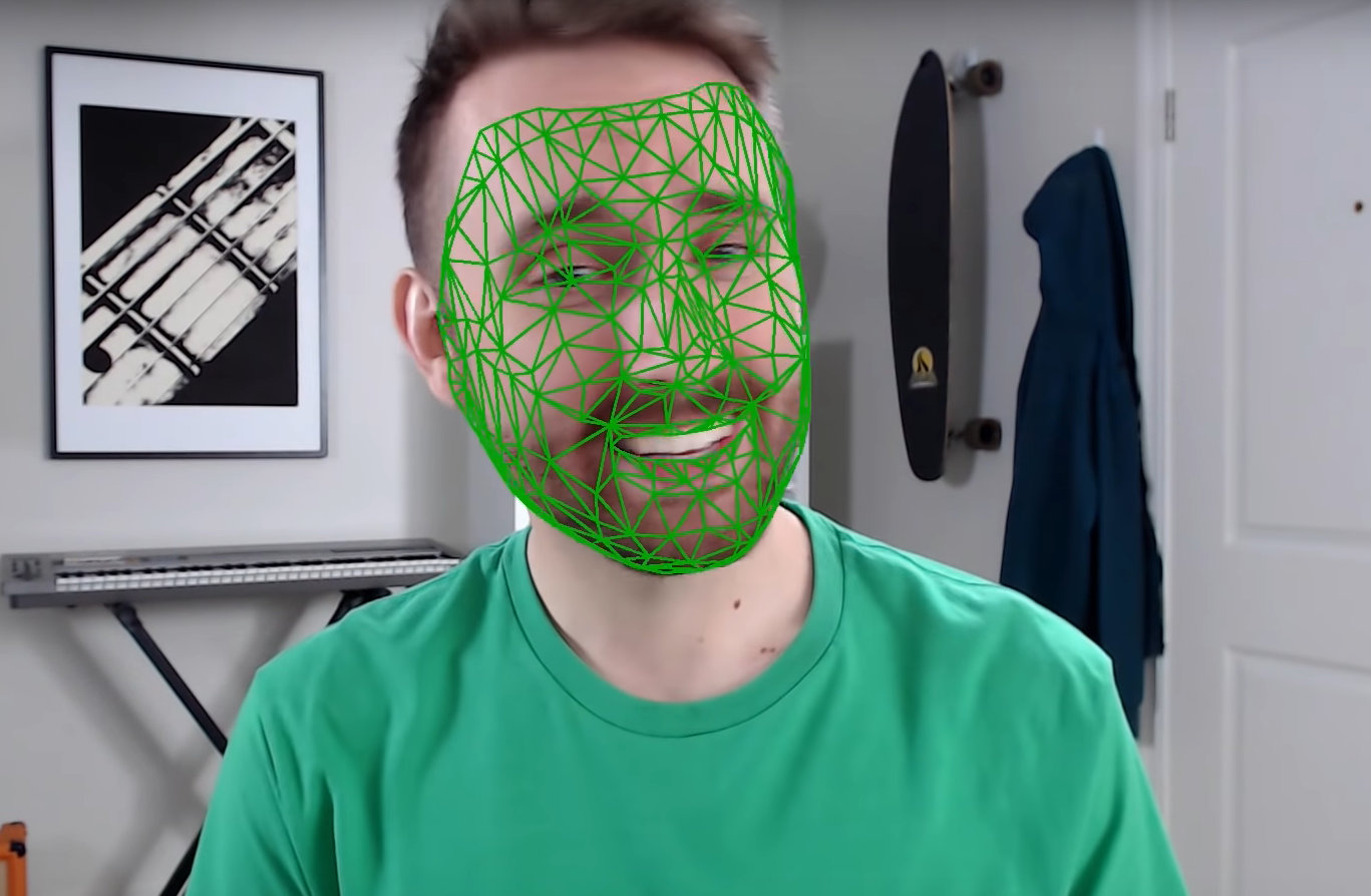 Nvidia shows real-time Greenscreen Keyer without Greenscreen and Facetracker