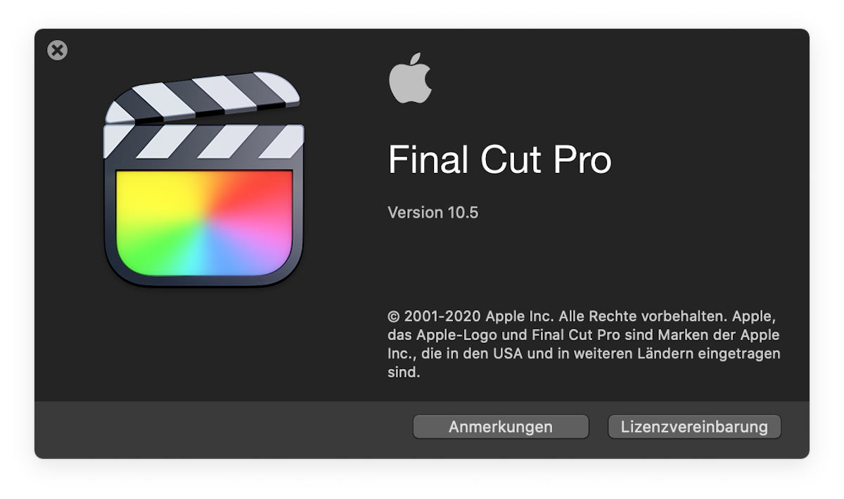 Apple Final Cut Pro 10.5 Update: without X but with M1 support