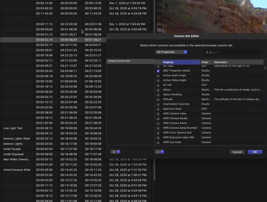 Final Cut Pro update 10.5.3 brings among other things own editor for metadata columns
