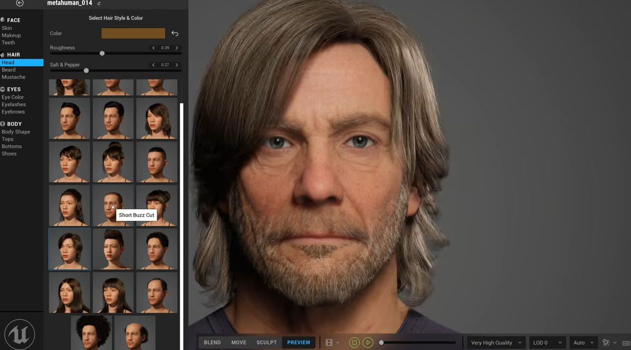 Epic Games MetaHuman Creator: Realistic 3D Models of Humans with a Single Click