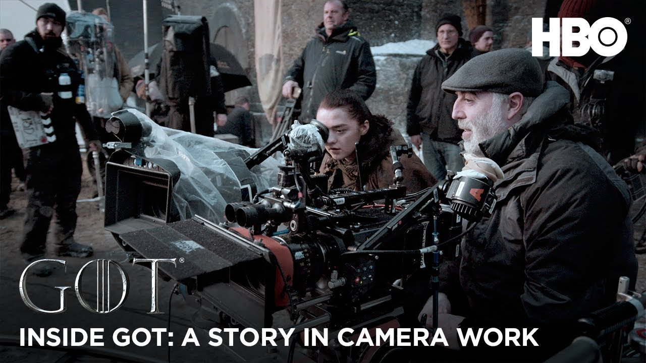 Clips about camera work, stunts and special effects in Game of Thrones