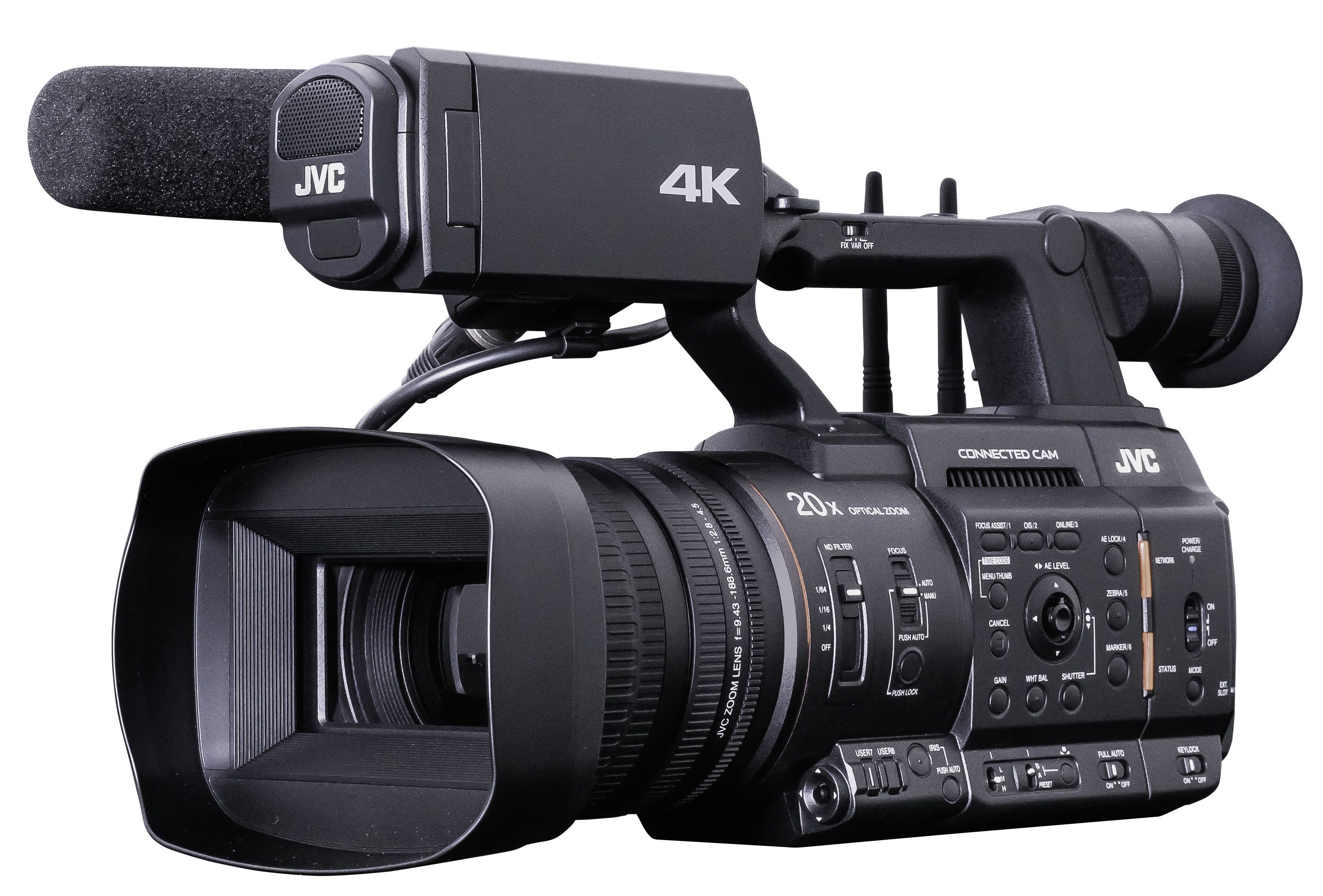 JVC GY-HC500 and 550 - professional camcorders with ProRES recording on M.2 SSDs and more // IBC 201