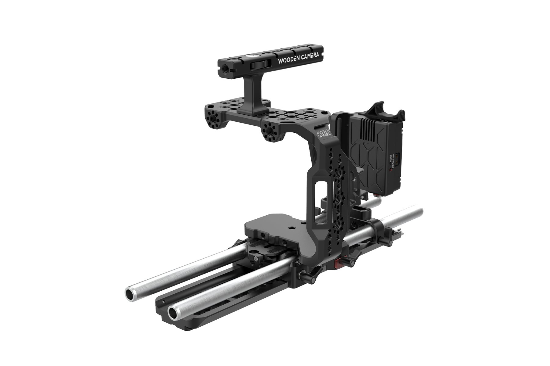 Wooden Camera with extensive BMPCC 6K Pro accessories