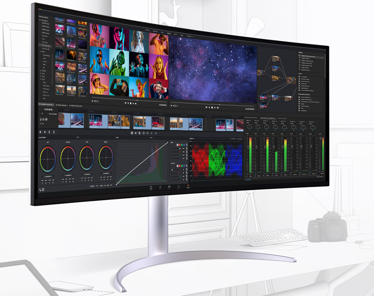 New monitors from LG: Thunderbolt4, 98% DCI-P3 and up to 180Hz