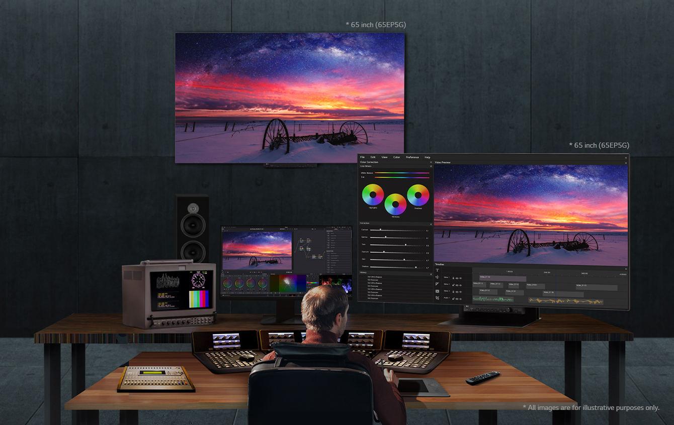 LG UltraFine Display OLED Pro 65EP5G: Professioneller 65