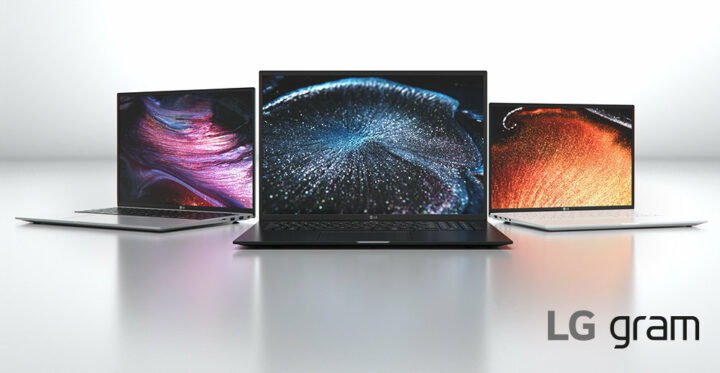 New LG gram notebooks: Extremely light with 99% DCI-P3 displays and Thunderbolt 4