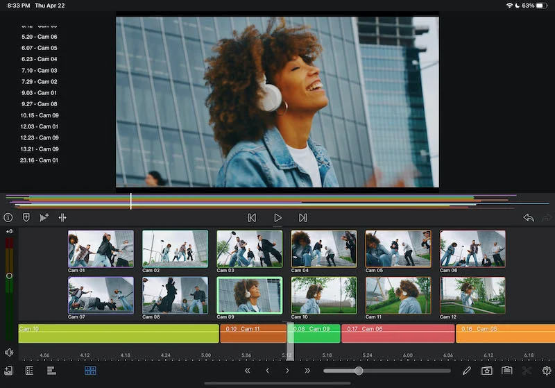 LumaFusion 3.0 brings video scopes as well as multicam synchronization and Thunderbolt 4 support