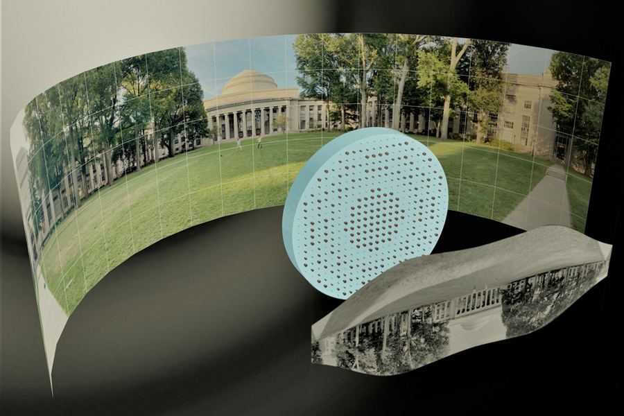 Metal lens turns flat piece of glass into a distortion-free 180° fisheye lens