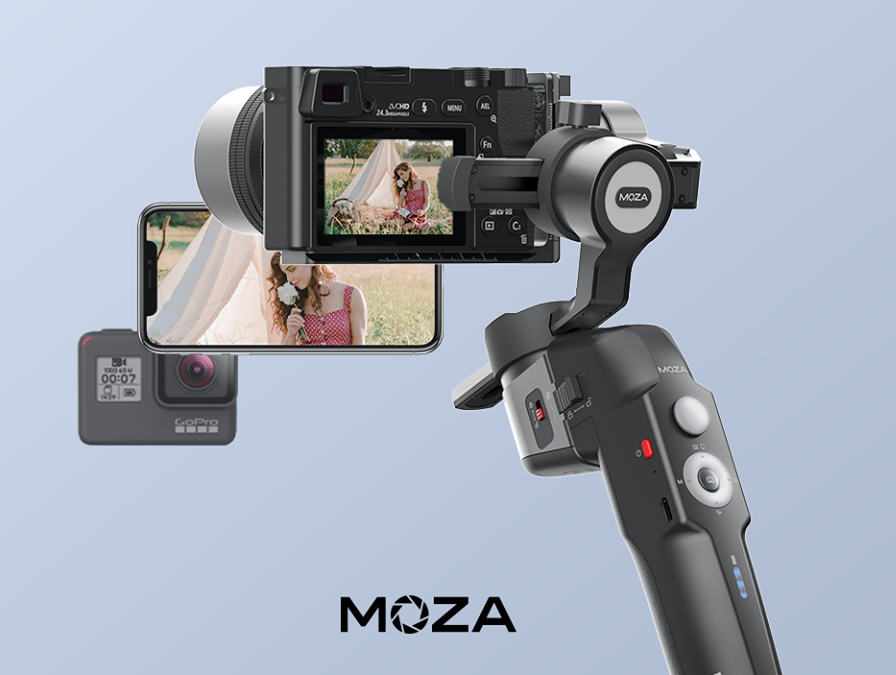 Gudsen Moza Mini-P: compact gimbal for smartphones, actioncams and mirrorless cameras